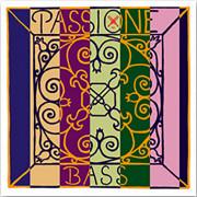 349000 Passione Solo Комплект струн для контрабаса размером 3/4, сталь, среднее натяжение, Pirastro