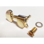 Колки Jinho (Guitar Technology), тип «гровер», 3+3, закрытые, золото (Jinho.J03GD)