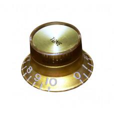Ручка потенциометра тона Hosco, под дюймовый шток, золото KG-130TI, 1шт