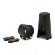 LC21P Leather Кожаная лигатура и пластиковый колпачок для кларнета Bb, Vandoren