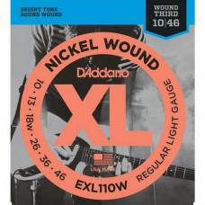 Струны D'Addario Nickel Wound 10-46 (EXL110W XL)