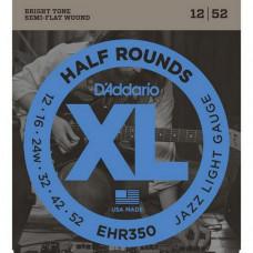 Струны D'Addario Half-Rounds 12-52 (EHR350)
