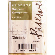 DIR0240 Reserve Трости для саксофона сопрано, размер 4.0, 2шт, Rico