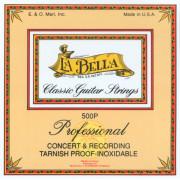 500Р Комплект профессиональных полированных струн для классической гитары La Bella