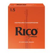 RIA1015 Rico Трости для саксофона сопрано, размер 1.5, 10шт, Rico