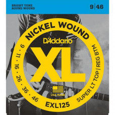 Струны D'Addario Nickel Wound 9-46 (EXL125XL)