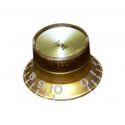 Ручка потенциометра тона Hosco, под метрический шток, золото KG-130T, 1шт