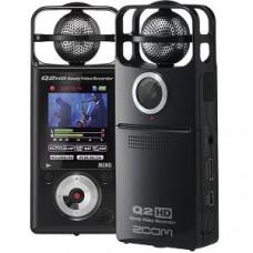 Zoom Q2HDB ручной мини видеорекордер со стерео микрофоном и HD видео чёрный