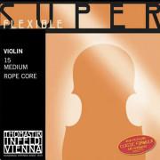 15 Super Flexible Комплект струн для скрипки размером 4/4, среднее натяжение, Thomastik