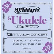 EJ87C Titanium Комплект струн для концертного укулеле, D'Addario