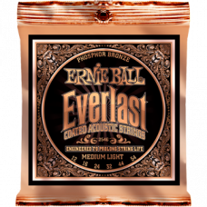 Струны Ernie Ball Everlast Coated Phosphor Bronze Acoustic 12-54 (2546)