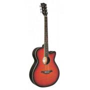 Акустическая гитара Caraya 40 с вырезом, тигровая текстура, цвет натуральный (F511-BS)