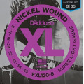Струны D'Addario Nickel Wound 8-string 9-65 (EXL120-8)