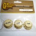 Комплект ручек регулировки GF (Guitar Factory),  Кремовый KI-240T/V, 3шт