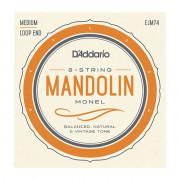 EJM74 Monel Комплект струн для мандолины, 11-40, монель-металл, D'Addario