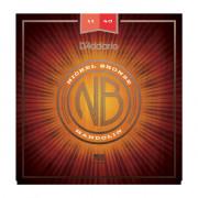 NBM1140 Nickel Bronze Комплект струн для мандолины, фосфорная бронза, Medium, 11-40, D'Addario