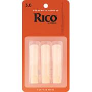 RIA0330 Rico Трости для саксофона сопрано, размер 3.0, 3шт, Rico