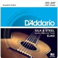 Струны D'Addario Silk&Steel Acoustic 11-47 (EJ40)