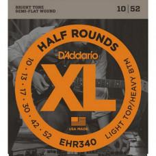Струны D'Addario Half-Rounds 10-52 (EHR340)