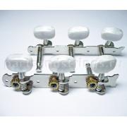 Колки Jinho (Guitar Technology), 3+3 планка, для акустической гитары, 35мм, никель (J68N)