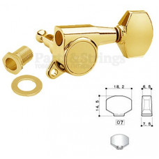 Колок левый Gotoh SG381-07-L/WS Золото