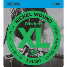 Струны D'Addario Nickel Wound 8-38 (EXL130XL)