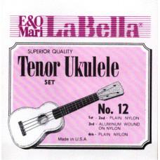 12-TENOR Комплект струн для укулеле тенор LaBella