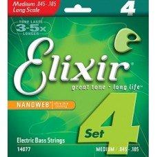 Струны Elixir NanoWeb Bass 45-105 (14077)