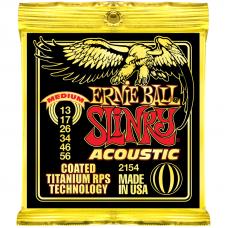 Струны Ernie Ball Acoustic Slinky Titanium Coated 13-56 (2154)