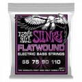 Струны Ernie Ball Flatwound Cobalt Bass 55-100 (P02811)