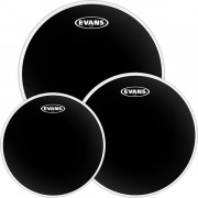 ETP-CHR-R Black Chrome Rock Набор пластика для том барабана 10