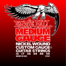 Струны Ernie Ball Medium Nickel Wound 13-56 (2204)