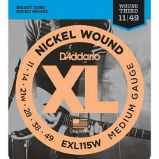 Струны D'Addario Nickel Wound 11-49 (EXL115W XL)
