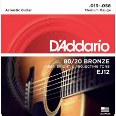 Струны D'Addario 80/20 Bronze Acoustic 13-56 (EJ12)