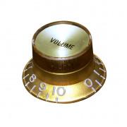 KG-130VI Ручка потенциометра, Volume, золото, дюймы, Hosco