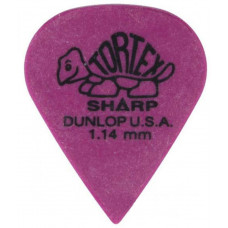 Медиатор Dunlop Tortex Sharp фиолетовый 1.14мм. (412R1.14)