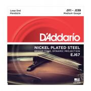 EJ67 Комплект струн для мандолины, никелированные, Medium, 11-39, D'Addario