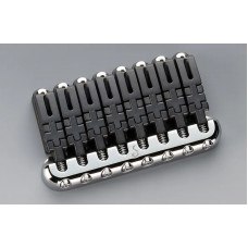 12310200 Hannes 8 Бридж (струнодержатель) для 8-струнной гитары, хром, Schaller