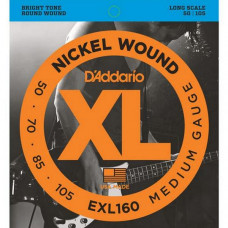 Струны D'Addario Nickel Wound Bass 50-105 (EXL160 XL)