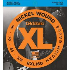 Струны D'Addario Nickel Wound Bass 50-105 (EXL160 XL)
