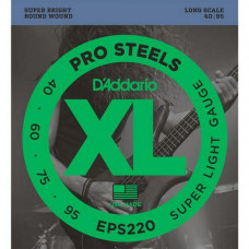 Струны D'Addario Pro Steels Bass 40-95 (EPS220)