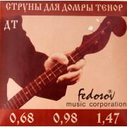 DT-Fedosov Комплект струн для домры тенор, латунь, Fedosov