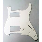 Панель (pickguard) для электрогитары H-H, трехслойная, белая (H-1003A)
