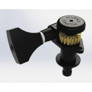 Колок Hipshot Grip-Lock Open, запирающий, черный, правый (реверсный) (6GL0BT)