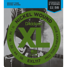 Струны D'Addario Nickel Wound 11-56 (EXL117XL)