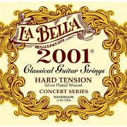 2001H 2001 Hard Комплект струн для классической гитары, сильное натяжение, посеребренные, La Bella
