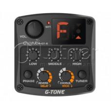 Звукосниматель пьезо для акустики Cherub GT-6 с 3х-полосным эквалайзером, тюнером и эффектами