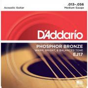 Струны D'Addario Phosphor Bronze Acoustic 13-56 (EJ17)