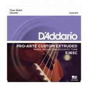EJ65C Комплект струн для концертного укулеле, прозрачный нейлон, D'Addario