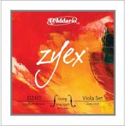 DZ410-LM Zyex Комплект струн для альта, большого размера, среднее натяжение, D'Addario